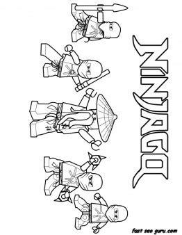 Printable Ninjago Ninja Team Coloring Page For Boy Coloring Pages For Boys Lego Ninjago Printable