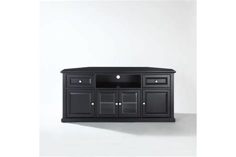 black corner tv stand 60 quot corner tv stand in black by crosley at gardner white