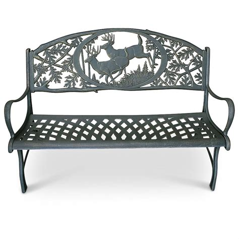 iron bench outdoor cast iron outdoor bench 169588 patio furniture at sportsman s guide