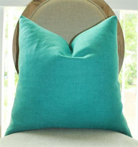 Turquoise Blue Pillows by Decorative Turquoise Blue Pillow Teal Green Pillow Cover