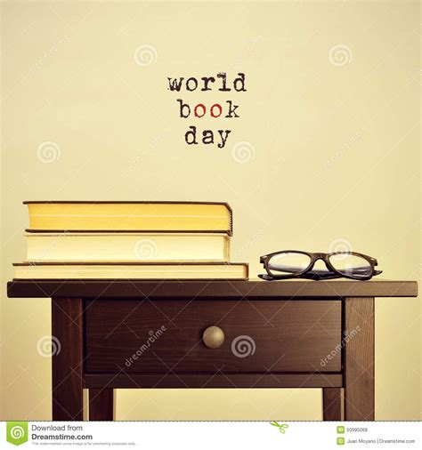 sentencing bench book world book day with a retro effect stock photo image