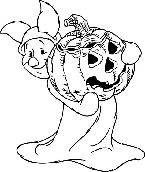 disney halloween pumpkin mickey coloring pages