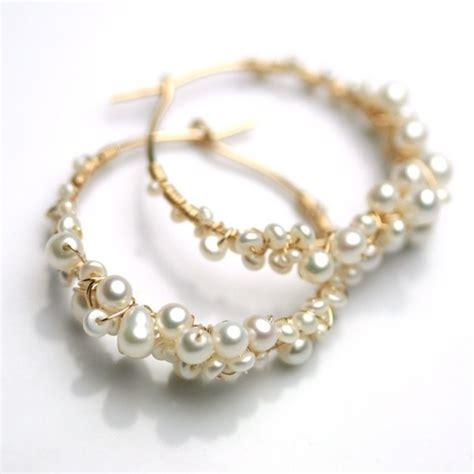 Awousm style hoop pearl earrings for girls (17)   Womenitems.Com