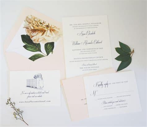 wedding invitations greenville sc greenville wedding invitation sc by dodeline design