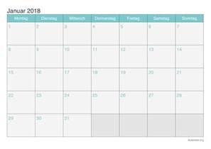 Kalender 2018 Januari Kalender Januar 2018 Zum Ausdrucken Ikalender Org