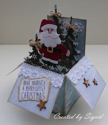 pop up card box template christmas santa in a box by sigrid tis the season cards boxed cards