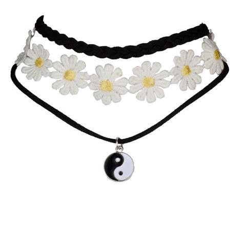 Sunflower Choker by Peace Sign Sunflower Flower Floral Fabric Choker Necklace