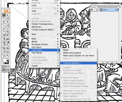 tutorial illustrator live trace live trace in illustrator create accurate line art tracings
