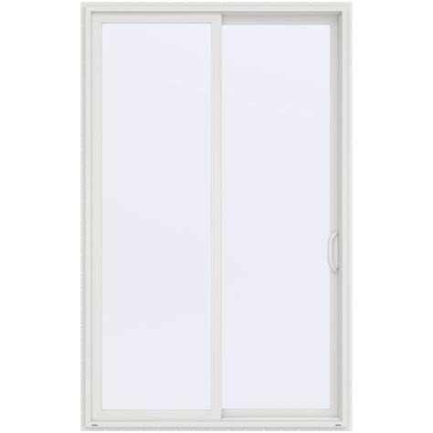 Prehung Sliding Glass Doors Jeld Wen 60 In X 96 In V 4500 White Prehung Right