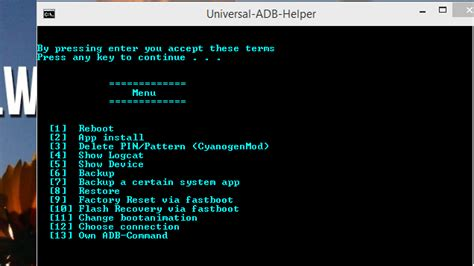 cmd for android universal adb utility simplifies common android command line tasks