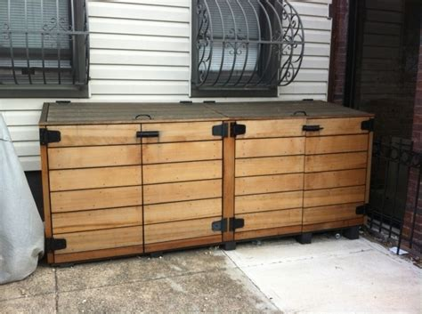 outdoor trash can storage cabinet stunning outside trash can enclosure outdoor trash storage