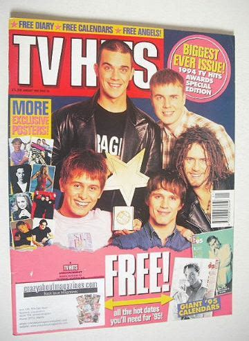 take that best of tv hits magazine january 1995 take that cover
