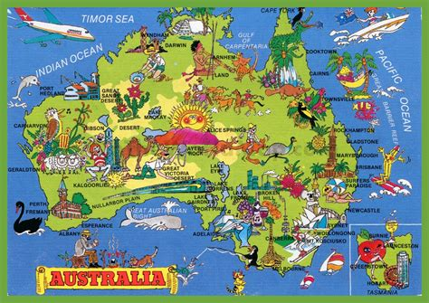 tourist map australia tourist map of australia