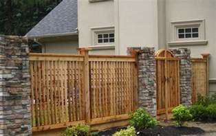 beautiful bricks and stones for gates and fences ideas