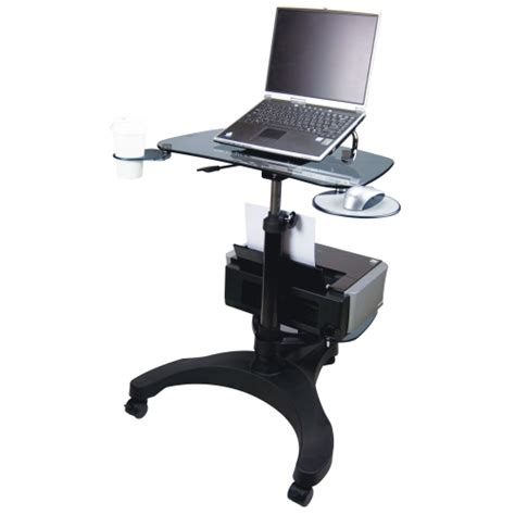 Movable Computer Desk Aidata Portable Laptop Desk With Printer Tray In Computer And Laptop Carts