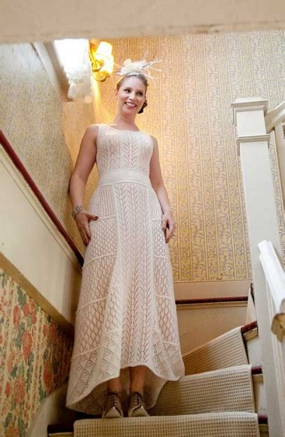 knitted wedding dress http images huffingtonpost 2014 06 10 knitted