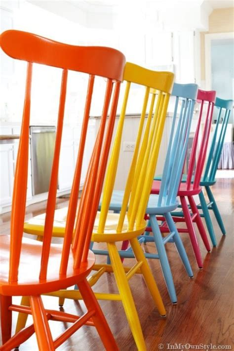 how to spray paint colorful wooden chairs step by step diy tutorial instructions how to