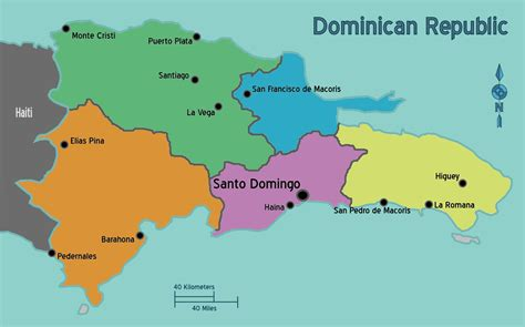 dominican republic cuba regions map