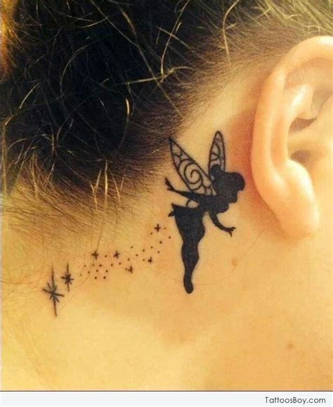 tinkerbell tattoo behind ear tattoo designs tattoo pictures