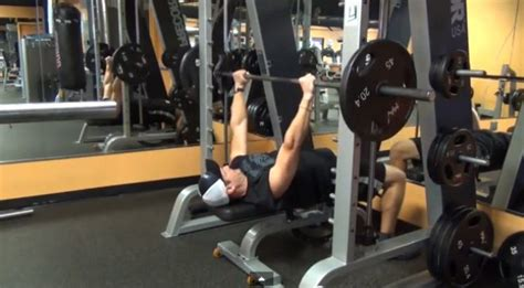 smith machine bench press throw the upper body strength training workout muscle fitness
