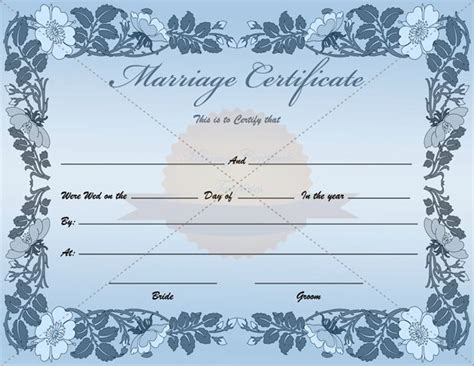 blank marriage certificate template blank marriage certificate template