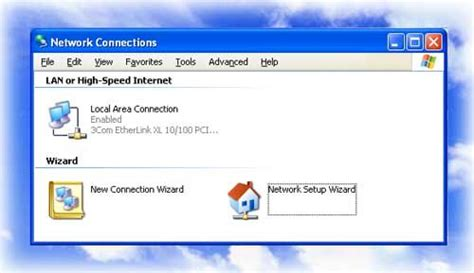 xp setup new site network setup wizard for xp and vista