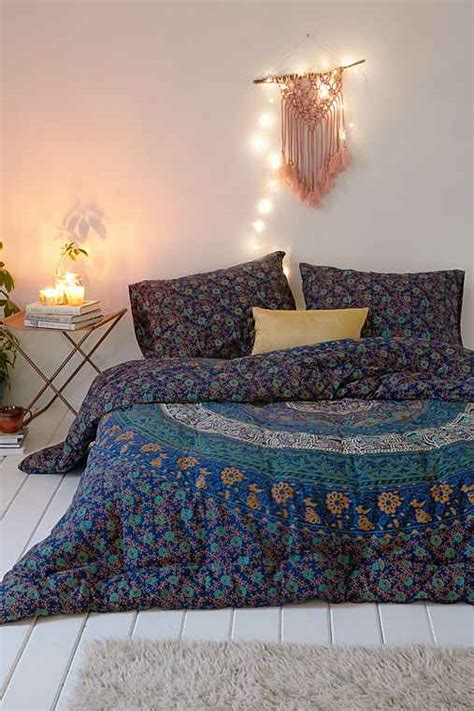 urban outfitters bed spread magical thinking blue medallion comforter urban outfitters