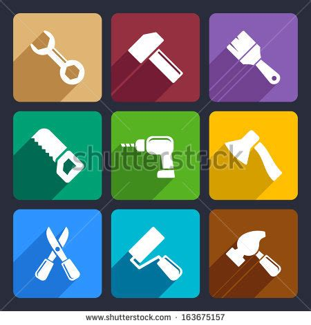working tools flat icon set stock vector image 40282698 hand tools icon series flat colors stock vector 215604883