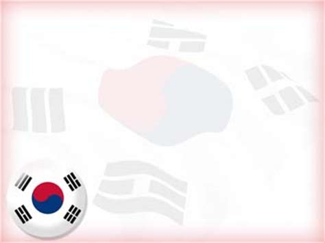 kpop ppt themes korea south flag 04 powerpoint templates