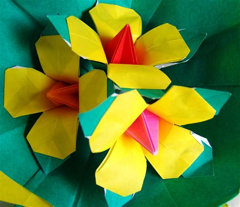 origami maniacs beautiful origami yellow flowers by