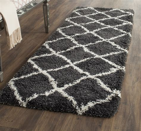 Loomed Rugs by Charcoal Ivory Safavieh Power Loomed Belize Shag Area