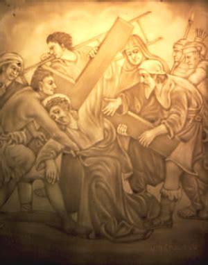 aiuto gesu a portare la croce via crucis prevista nei salmi p l bellonci