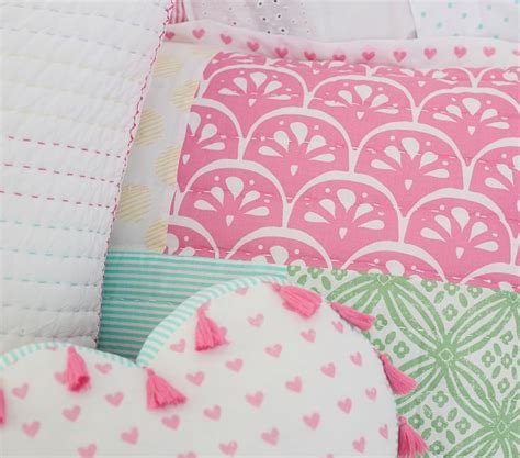 Next Patchwork Bedding - mila patchwork quilted bedding pottery barn