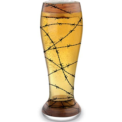 Decorated Pint Glasses by Bandit Decorated Pilsner Glass
