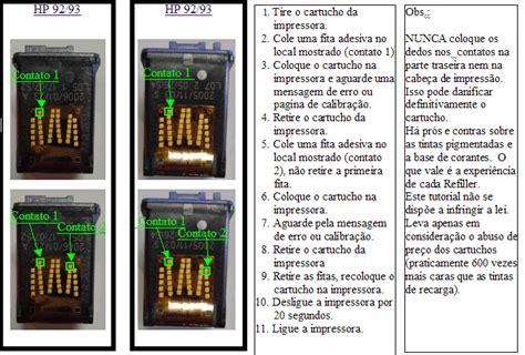 reset impressora hp cp1515 recarga e reset do cartucho hp 92 93 impressoras