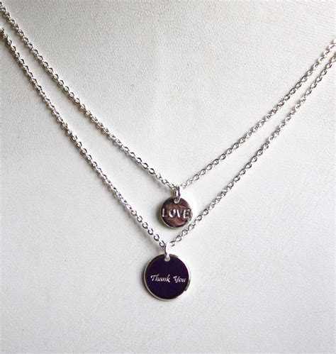 Gratitude Necklace love gratitude necklace silver mindfully thankful