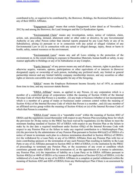 erisa section 3 14 legal us e 131616432 2 14703685 14703685 b the form of