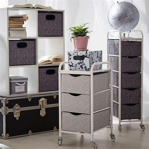 bathroom storage cart mini dot ready to roll storage ready to roll storage cart mini dot pbteen