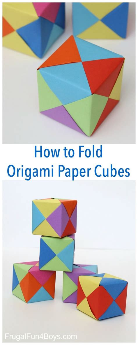 How To Fold A Paper Cube - 410 best papercrafts for images on easy