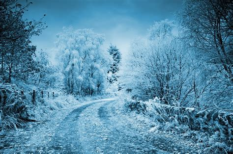 cold background free photo winter cold frozen background snow road