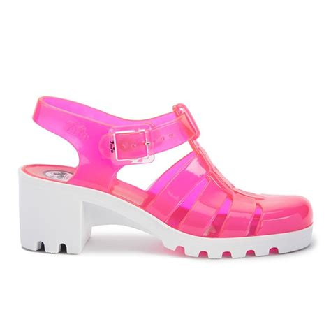 Shoes Jelly Polos juju s heeled jelly sandals white free