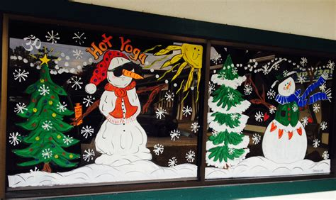 holiday window paintings lisa crigar images