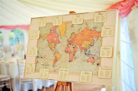 travel themed wedding marquee