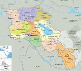 map of and armenia political map of armenia ezilon maps