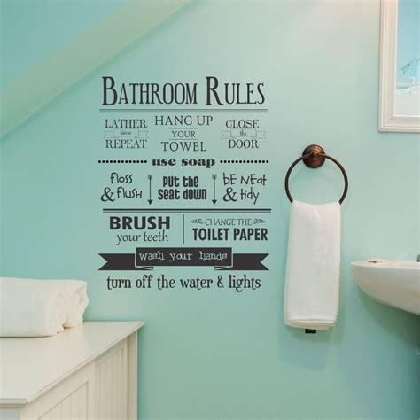 bathroom rules decal bathroom rules wall quotes decal wallquotes com