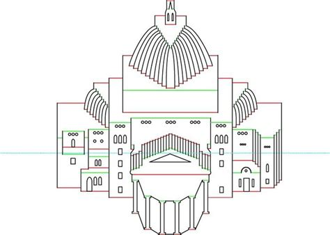 Architectural Origami Templates - image detail for h罅p pattern origamic architecture