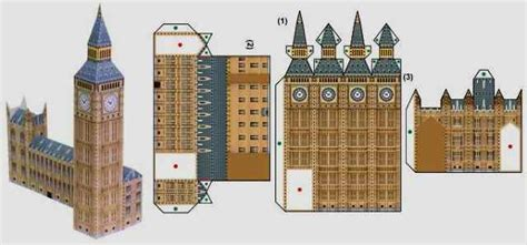 Big Ben Papercraft - papermau the big ben in miniature paper model by