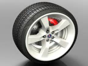Tires Size By Car Model Car Wheel Tire Brembo Kit 3ds 3d Studio Max