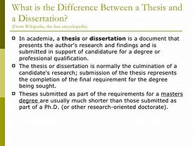 Image result for what is the difference between a dissertation and a thesis