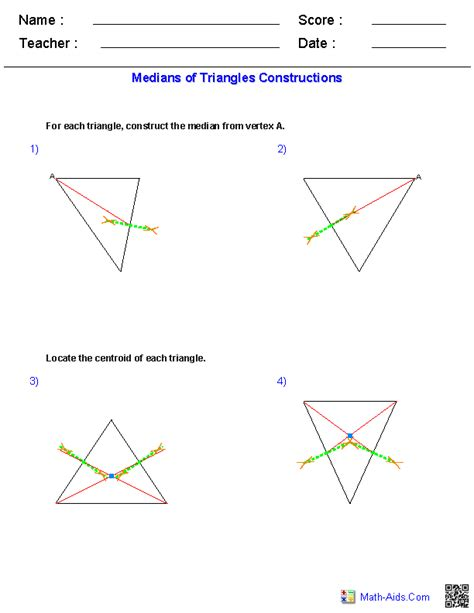 Construction Worksheets Geometry by Geometry Worksheets Constructions Worksheets